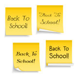Back To School on Paper Notes Royalty Free Stock Photos