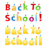 Back To School Paper Words Royalty Free Stock Photos