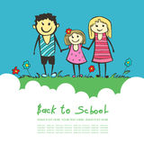 Back to school. Parents are a child in school. happy child, Mom Stock Photography