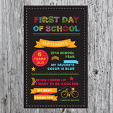 Back to school party invitation. Stock Images