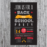 Back to school party invitation. Royalty Free Stock Photography
