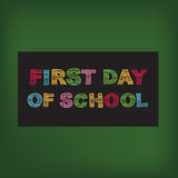 Back to school party invitation. Royalty Free Stock Photo