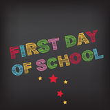 Back to school party invitation. Royalty Free Stock Image