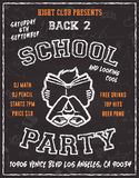 Back to school party poster flyer design Stock Photo