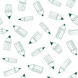 Back to School pattern. With pencils Stock Images