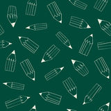 Back to School pattern. With pencils on On Chalkboard Royalty Free Stock Images