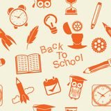 Back to School pattern Royalty Free Stock Images