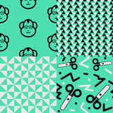 Back to school patterns Royalty Free Stock Photography