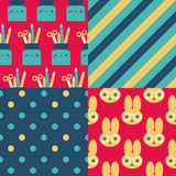 Back to school patterns Stock Image