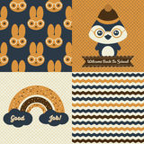 Back to school patterns and posters Stock Photo