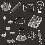 Back to school - pen sketch background. doodles Royalty Free Stock Photos