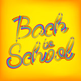 Back to school pencil concept. EPS 10 Royalty Free Stock Photo