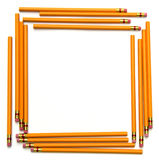 Back to School Pencil Frame Stock Images