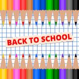 Back to School pencil frame Stock Photo