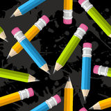 Back to school pencil grunge pattern Stock Image