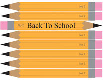 Back to School Pencil Illustration Stock Photography