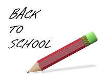 Back to school pencil, isolated over white Stock Images