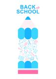 Back to school pencil lines icons Royalty Free Stock Images