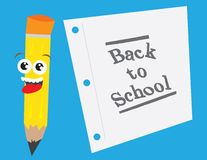 Back to School Pencil and Paper Stock Image