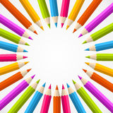 Back to school pencil rainbow circle Royalty Free Stock Photos