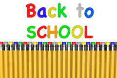 Back to school with pencils Stock Photos