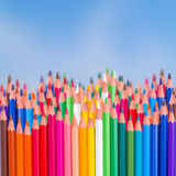 Back to school pencils  border Royalty Free Stock Image