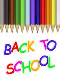Back to school pencils Royalty Free Stock Images