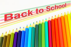 Back to school pencils Stock Photography
