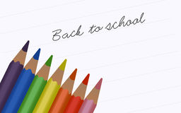 Back to school - pencils. Back to school - notes with pencils Royalty Free Stock Image
