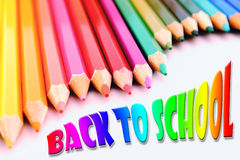 Back to school pencils poster Stock Photo
