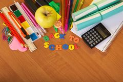 Back to school with pencils Stock Photography