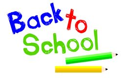 Back To School with Pencils Vector Illustration vector illustration