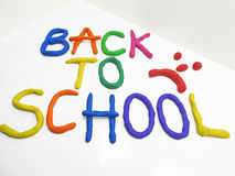 Back to school phrase Royalty Free Stock Images