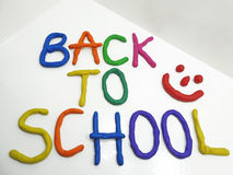 Back to school phrase Royalty Free Stock Image