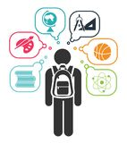 Back to school. stock illustration
