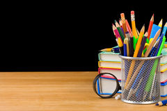 Back to school and pile of books Royalty Free Stock Photos