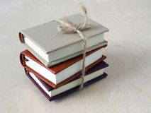 Back to School. Pile of Small Books Tied by a Twine Stock Images