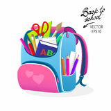 Back to School Pink Bag Royalty Free Stock Photo