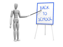 Back to school pointing to board Stock Photography