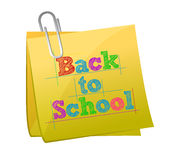 Back to school post illustration design Royalty Free Stock Photos