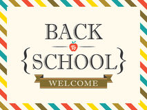 Back to School postcard background template Stock Photo