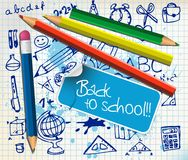 Back to school poster Stock Photos