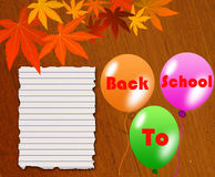 Back to school poster Royalty Free Stock Image