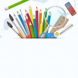 Back to school poster  background with place for text Stock Image
