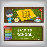 Back to school poster and banner design Royalty Free Stock Photo