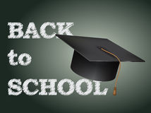 Back to school poster cap Royalty Free Stock Photos