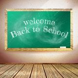 Back to school poster with chalkboard. EPS10 Stock Photography