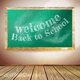 Back to school poster with chalkboard. EPS10 Royalty Free Stock Photography