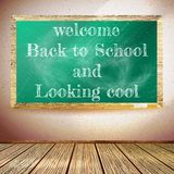 Back to school poster with chalkboard. EPS10 Royalty Free Stock Images