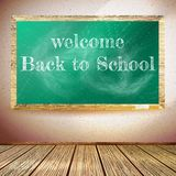 Back to school poster with chalkboard. EPS10 Stock Image